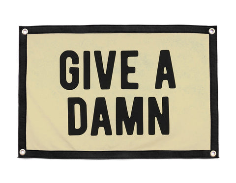 Give a Damn wool camp flag