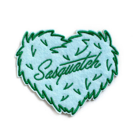Sasquatch Furry Heart Patch