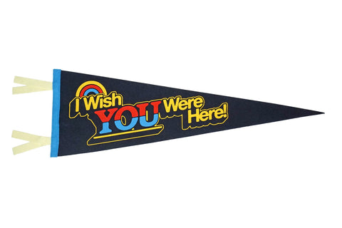 Wish You Were Here wool pennant