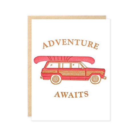 Adventure Awaits Stationary Card