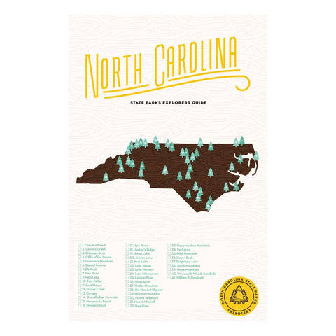 North Carolina State Park Checklist Print