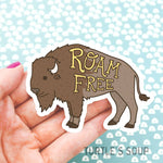 Roam Free Bison Sticker