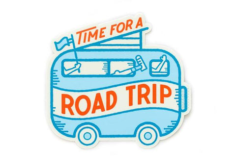 Time for a Road Trip Vinyl Sticker