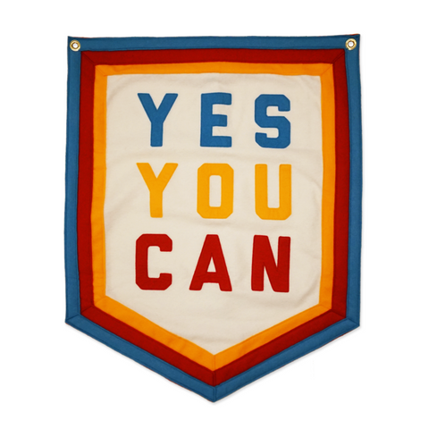 Yes You Can wool banner