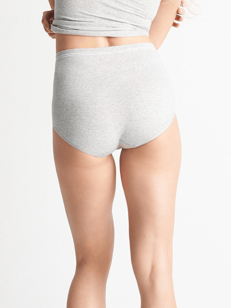 Seamless Cotton Brief- Grey