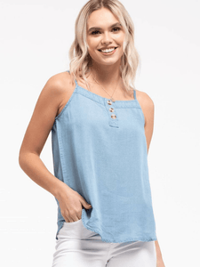 Chambray Button Cami