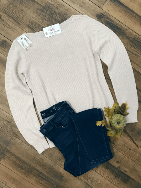 Ivory Boatneck Sweater