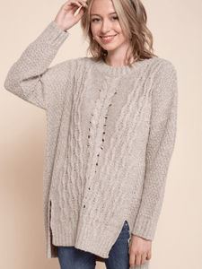 Oatmeal Braid Sweater