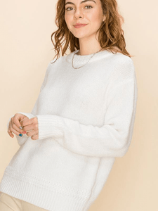 Cream Braid Sweater