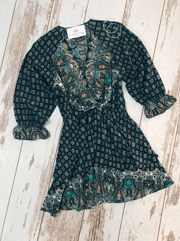 Black Paisley Dress