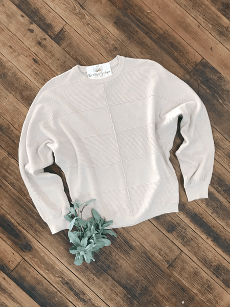 Cream Textured Dolman