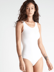 Cotton Full Back Bodysuit- White