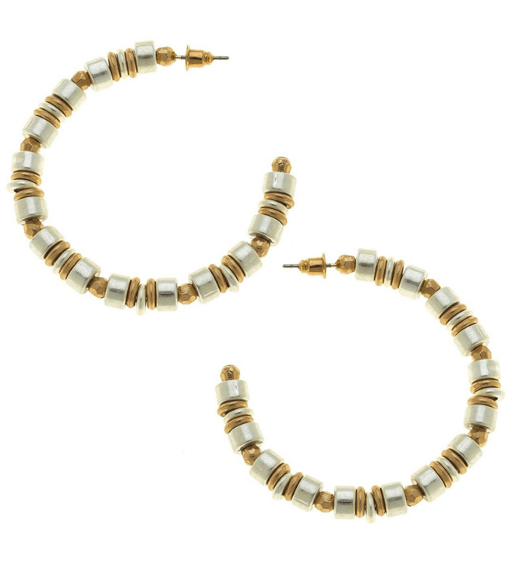 Penelope Two Tone Hoops