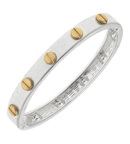 Silver Ella Hinge Bangle