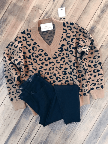Camel Leopard Sweater