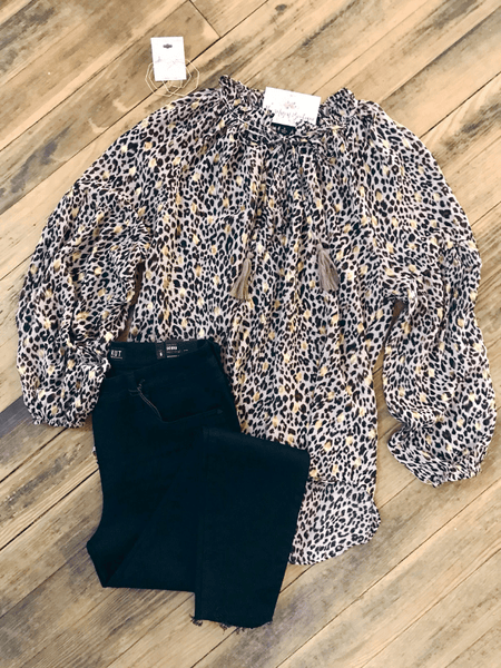 Gold Foil Leopard Top