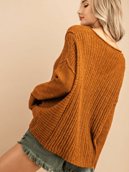 Ribbed Camel Sweater