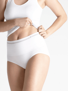 Seamless Cotton Brief- White