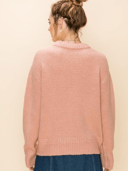 Rose Braid Sweater