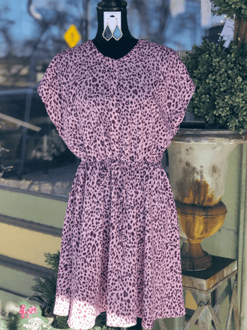 Rose Leopard Dress