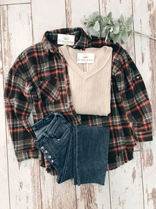 Brown Plaid Shacket