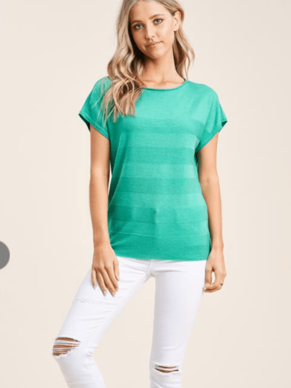 Kelly Textured Stripe Top