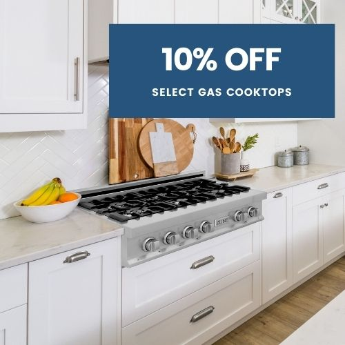 10% Off Select Gas Cooktops