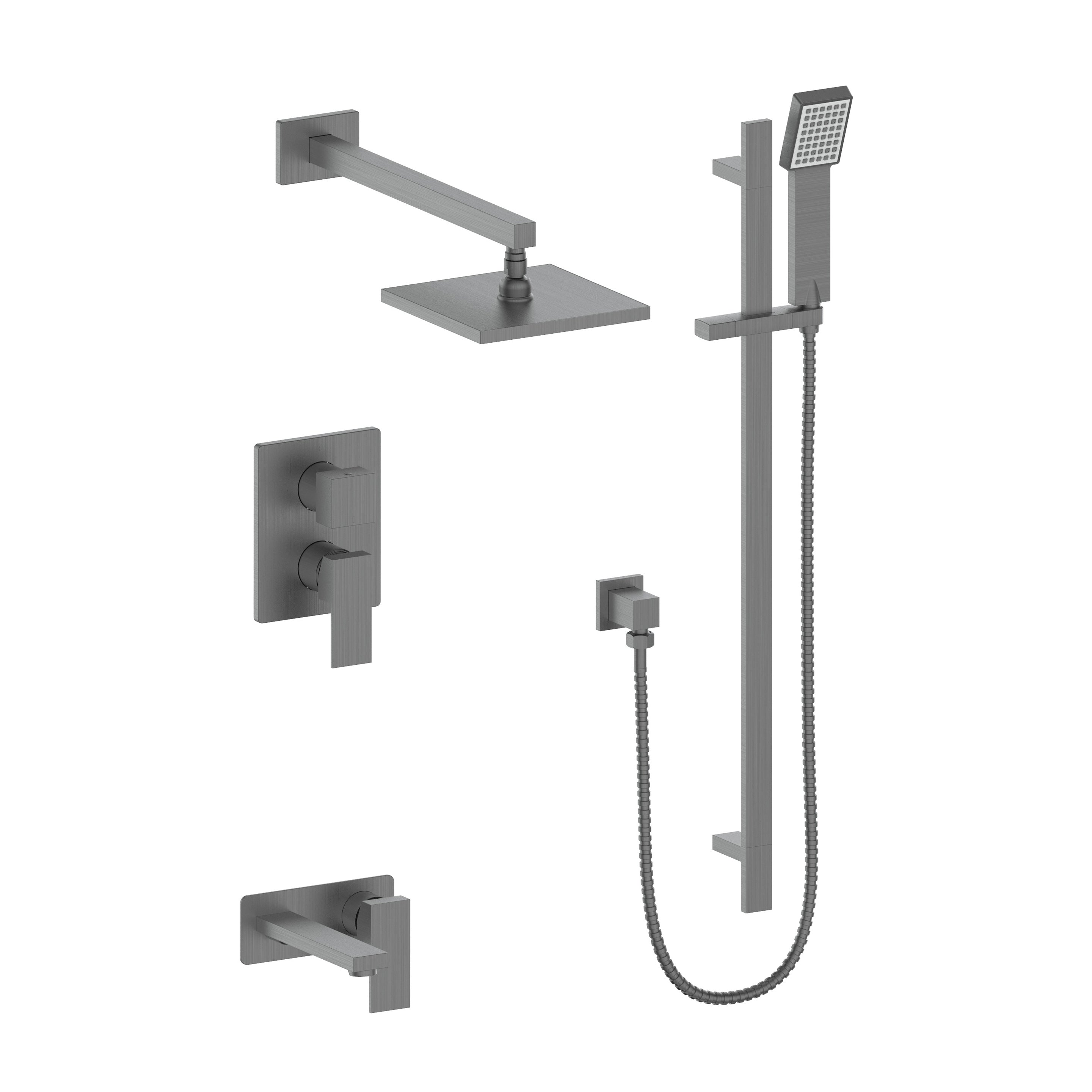 ZLINE Crystal Bay Thermostatic Shower System with color options (CBY-SHS-T2)