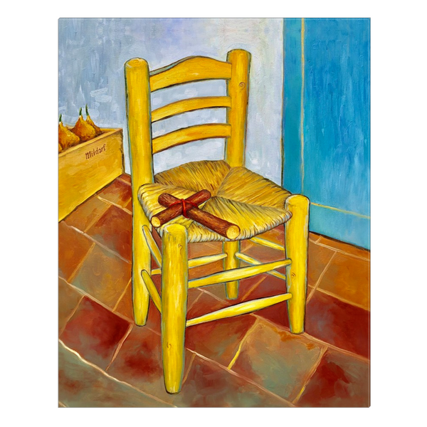 """Chair & Cross"" Canvas Wrap"