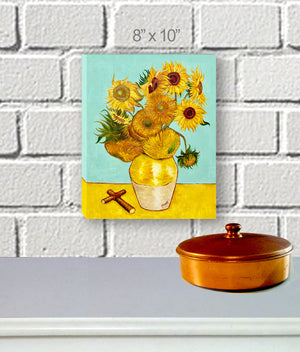 """Sunflowers & Cross"" Canvas Wrap"