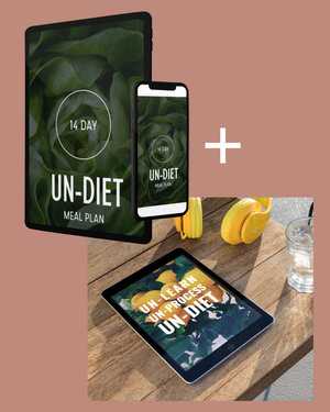 Un-Diet Digital Book + 14 Day Meal Plan Bundle