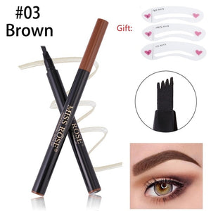 MISS ROSE 4 Head Waterproof Microblading Liquid Eyebrow Pen