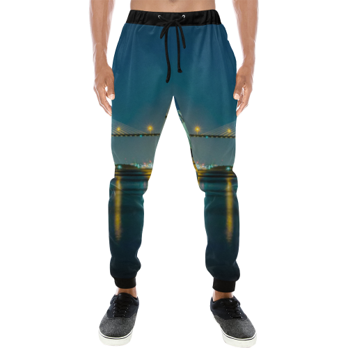 Savannah Bridge At Night Sweatpants Men's