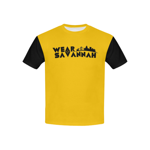 Kids Yellow & Black Wear Savannah T-Shirt