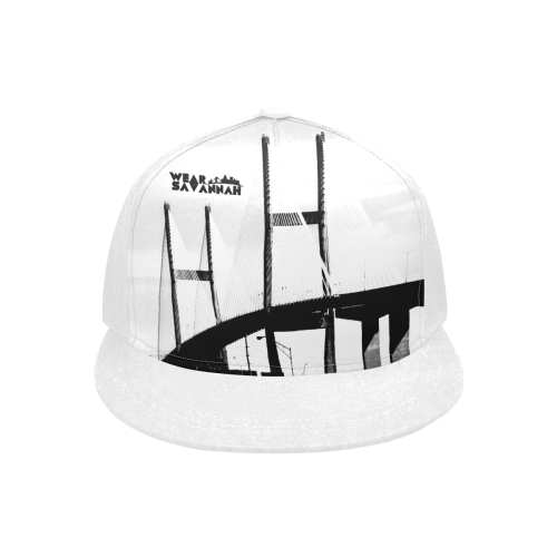 White Savannah Bridge Snapback Hat