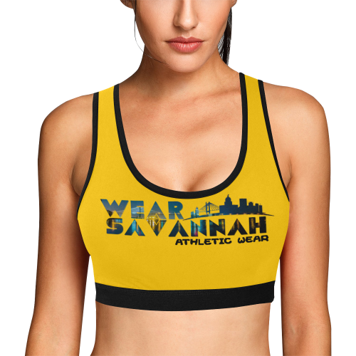 Women's Yellow Sports Bra