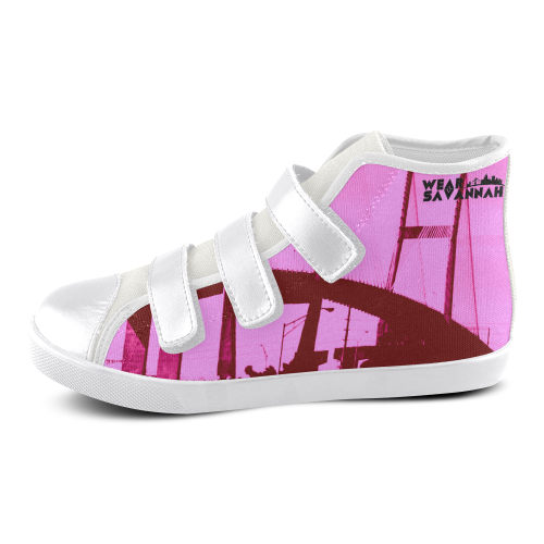 Kids Pink Savannah Bridge Velcro Shoes