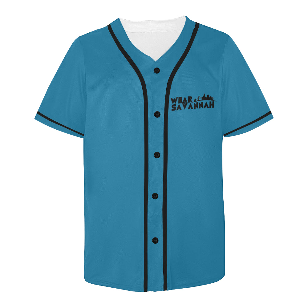 Men's Wear Savannah Teal & Black Jersey