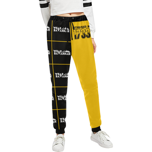 Women's Established In 1733 Black & Yellow Sweatpants