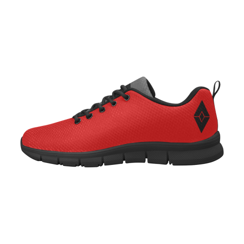 Women's Waving Girl Tongue Red Running Shoes