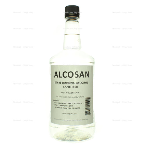 Alcosan 70% Ethyl Rubbing Alcohol Sanitizer - Cibigi
