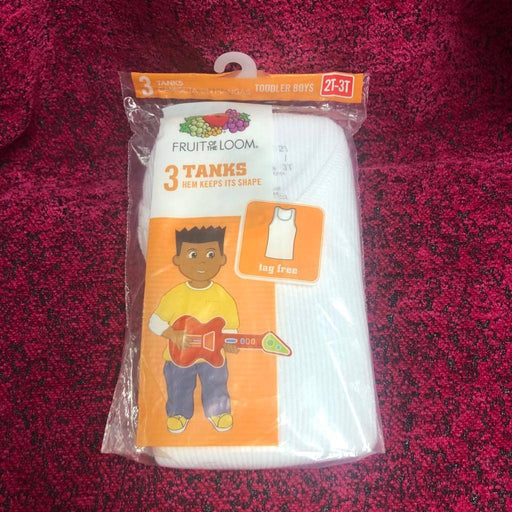 Fruit of the Loom 3pk Toddler Vest