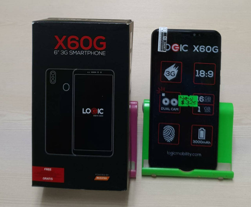 "X60G 6"" 3G Smartphone, 6"", Quad Core, Dual Rear 13+0.3+5MP Selfie Cameras, 16GB"