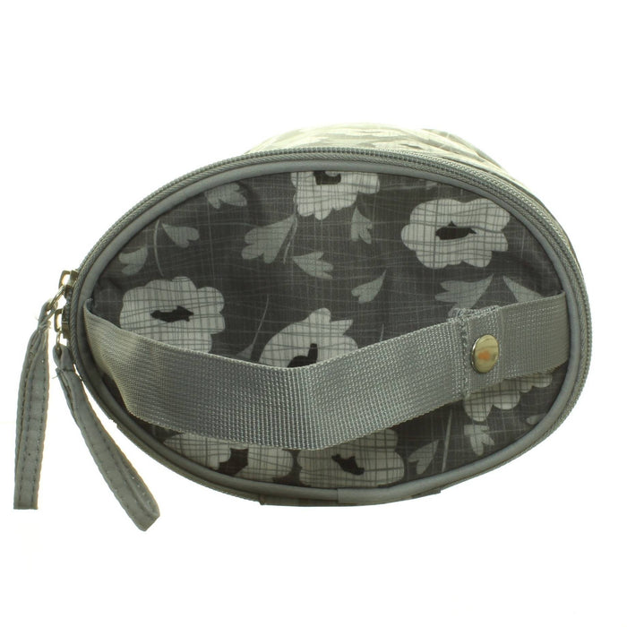 GREY FLOWERS DOUBLE BOTTLE BAG - Cibigi