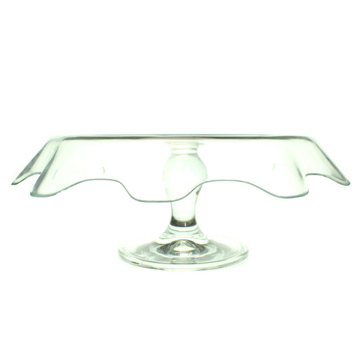 Curvey glass cake stand - Cibigi