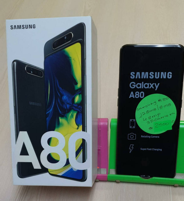 Samsung Galaxy A80 SM-A805F/DS, GSM/HSPA/LTE, Snapdragon 730, Dual Sim, Rotating Triple 48MP+8MPUltraWide+3DDepth, Triple Front Camera, 128G