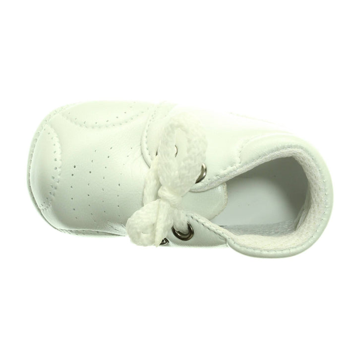BOYS WHITE CHRISTENING SHOES - Cibigi