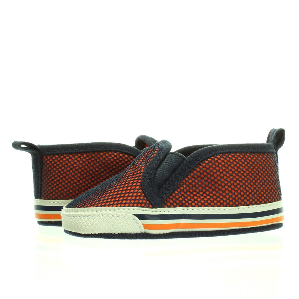 BABY BOY ORANGE MESH SOFT SOLE SNEAKER Size 3 (6-9M) - Cibigi
