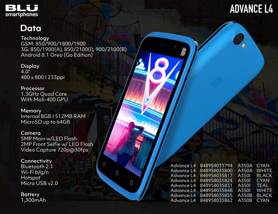 Advance L4 BLU Cell Phone - Cibigi