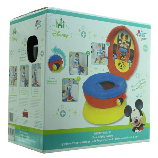 MICKEY MOUSE 3-in-1 Potty System(Red & yellow)